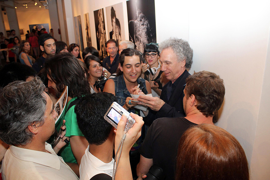 Dec. 7 - Buenos Aires, Argentina - On opening night of my exhibit I was surrounded by fans asking for autographs.
