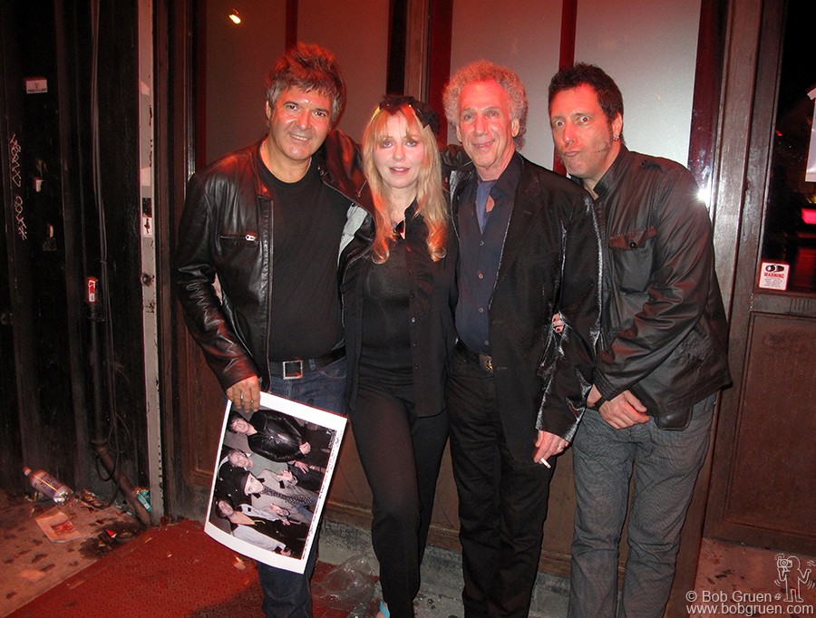 Clem Burke missed the Blondie tribute because he played at Bowery Ballroom with Hugh Cornwell but they both came to my party later and said hi to me and Bebe Buell who played a very rockin' & rollin' set at the party.
