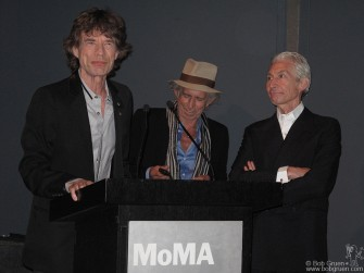 May 11 - Mick Jagger, Keith Richards & Charlie Watts were on hand at the Museum of Modern Art to introduce the DVD of the making of 'Exile On Main Street'.