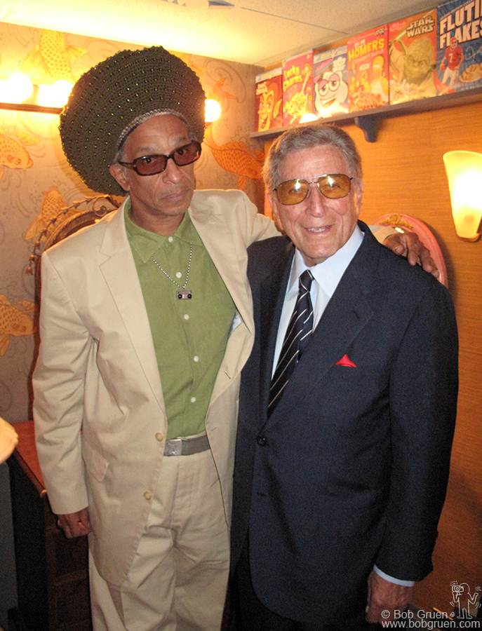 Aug 2 - NYC - Don Letts got to say hello to Tony Bennett who was also on the Jimmy Fallon show when BAD was there.