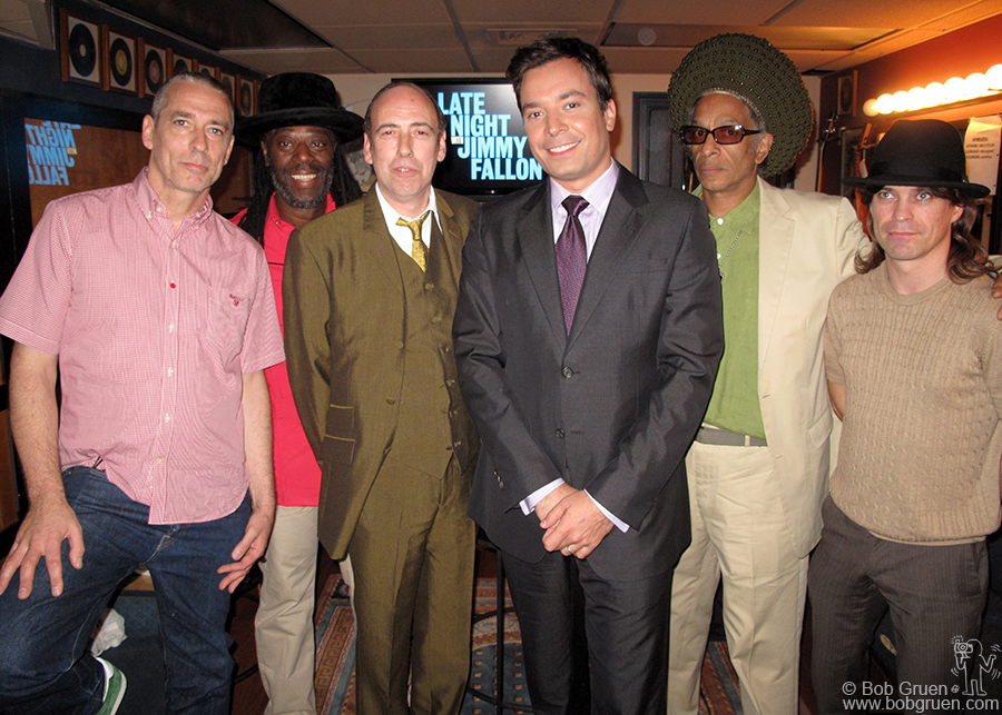 Aug 2 - NYC - Big Audio Dynamite played at Jimmy Fallon's Late Nite TV show.