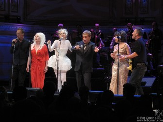 May 13 - Sting, Debbie Harry, Lady Gaga, Elton John, Shirley Bassey & Bruce Springsteen played a benefit for the Rainforest Fund at Carnegie Hall.