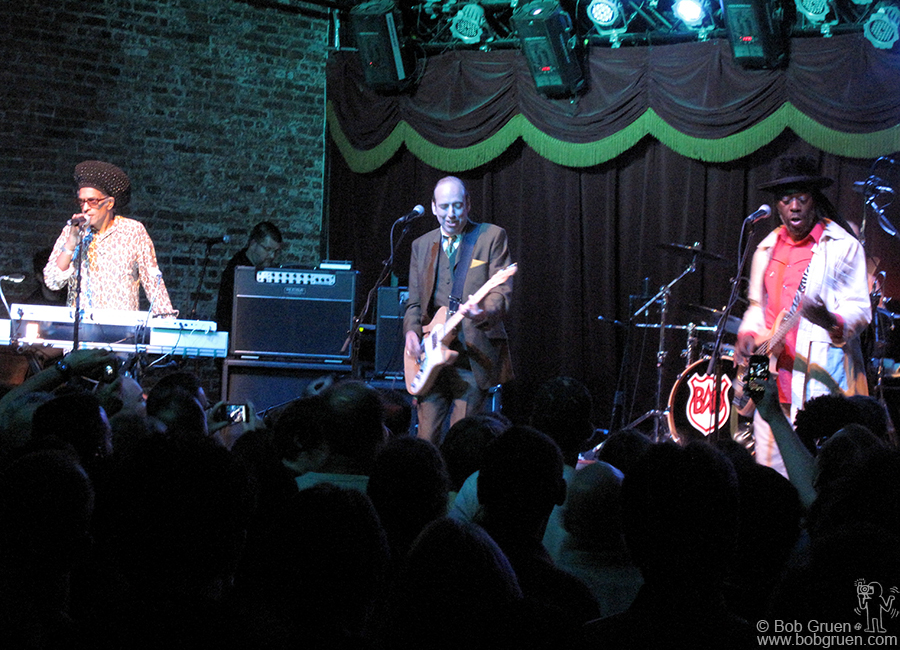Aug 3 - Brooklyn - Big Audio Dynamite plays at the Brooklyn Bowl, a really fun club combining rock and roll with bowling and a great kitchen serving good food.
