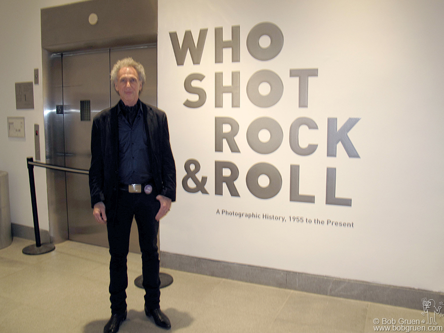 Oct 29 - Brooklyn - I am very honored to be part of the exhibition 'Who Shot Rock & Roll' at the Brooklyn Museum. It's a great show featuring over 100 photographers who pioneered the genre of Rock & Roll photography.