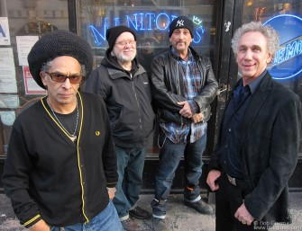 The Grammy award winning director (for his Clash documentary 'Westway to the World') Don Letts, came to NY to make a documentary about me for Sky Arts 1 HD TV. He interviewed Tommy Ramone above, at Manitoba's bar on Ave B.