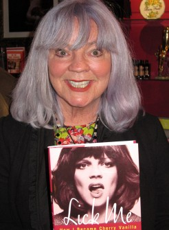 Cherry Vanilla gave a reading of her new book 'Lick Me', a biography of her wild life.