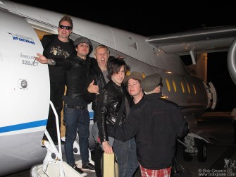 Then the band gets a quick plane ride to Paris.