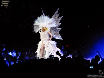 Lady GaGa at Madison Square Garden had the crowd cheering for more as she showed off her crazy clothes.