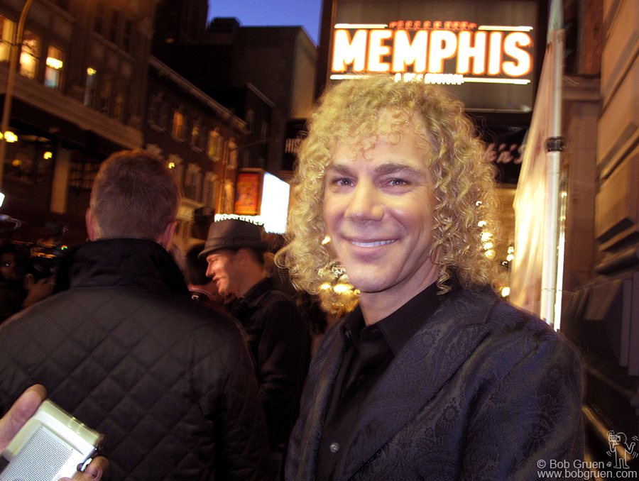 Oct 19 - NYC - David Bryan of the Bon Jovi group stepped out from behind his piano to attend the opening of 'Memphis' the broadway play about the origins of Rock and Roll for which he wrote the music. It's a really fun show, go see it.