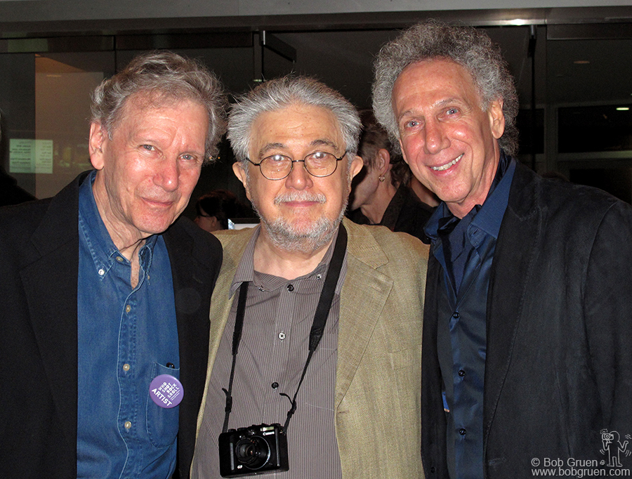 I joined in a photo with two great photographers; Daniel Kramer (known for his early Bob Dylan photos) and Alfred Wertheimer (who took photos of an up-and-coming Elvis Presley).