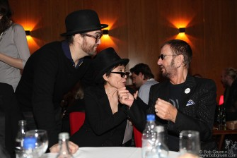 After Paris I stopped in Iceland to see Yoko Ono's show there on John Lennon's birthday. After the show, (which was amazing) there was a surprise party for Sean Lennon, who shares his dad's birthday, and the surprise guest was Ringo Starr!