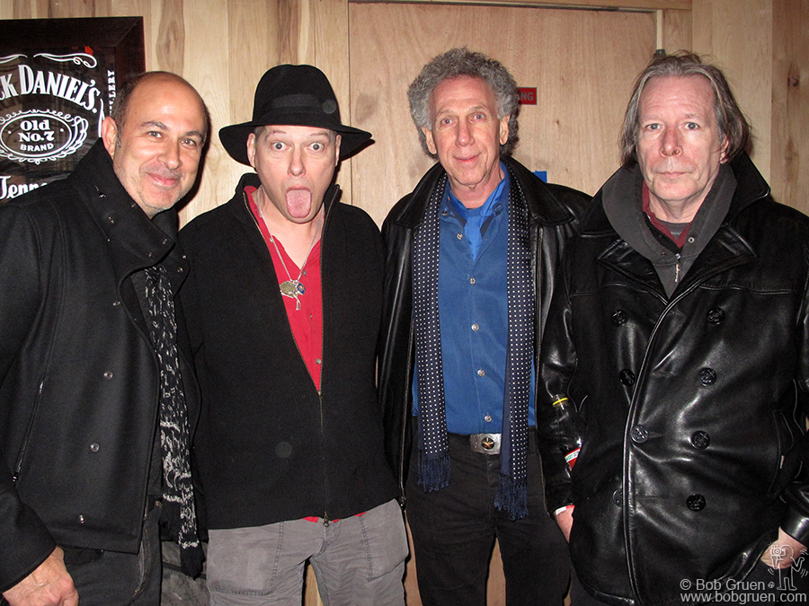 Nov 12 - NYC - John Varvatos (on left), myself and Legs McNeil (on right) hosted a night at the Studio @ Webster Hall for a performance by Richard Lloyd (formerly of original punkers Television).