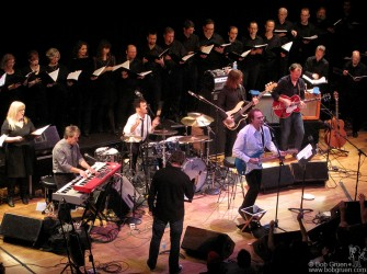 November 19 - Ray Davies played his songs, including a number of Kinks hits, with a large chorus of singers at Town Hall!