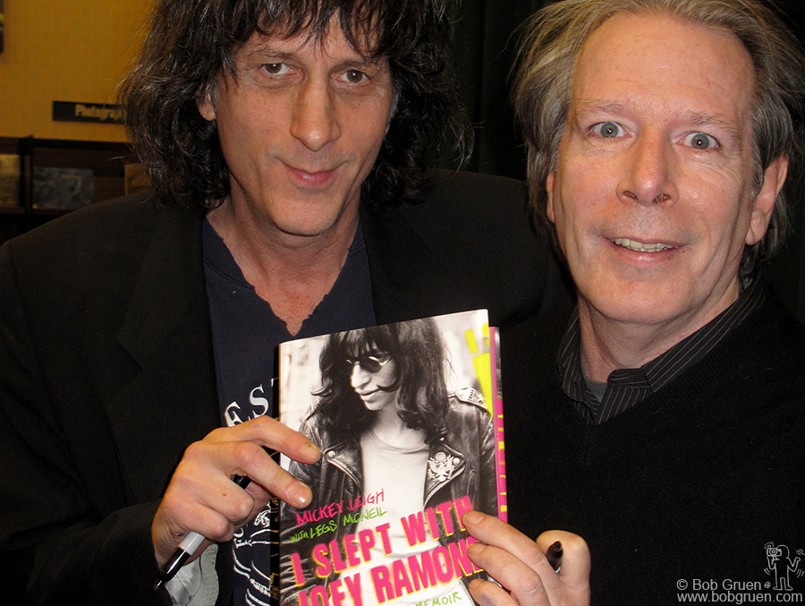 Dec 1 - NYC - Joey Ramone's brother Mickey Leigh and co-author Legs McNeil read from their new book 'I slept with Joey Ramone'.