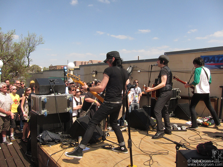 Jesse Malin showed he can rock out with his very hot band in the hot Austin sun.