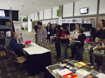 After my talk at the convention center I signed books and sold out all they had of my books.