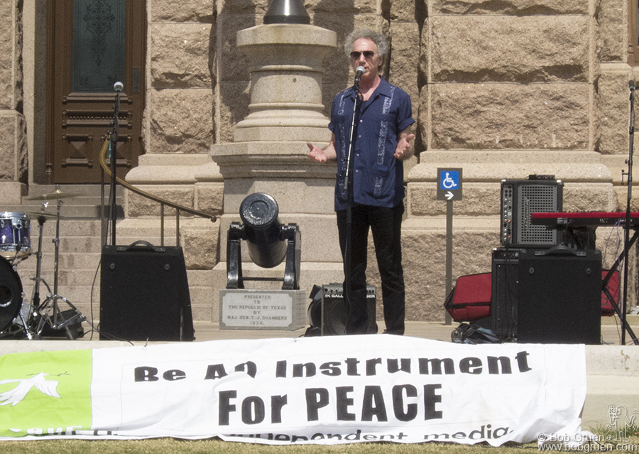 I spoke at the Million Musician March for Peace in front of the Texas State Capitol. To see what I said click here