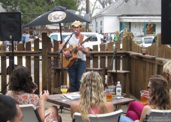 My son Kris Gruen played several showcases at SXSW, this one at the Bar 96.