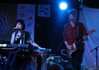 Yuka Honda and her husband Nils (of Wilco) play at the Chimera records showcase event at Elysium.