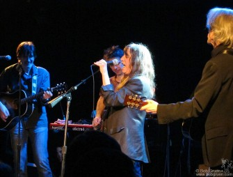 March 29 - Patti Smith opened a show to raise funds for Japan's earthquake relief at Le poisson rouge on Bleecker Street.