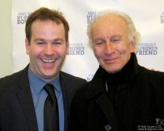 "March 31 - Ron Delsener came to see comedian Mike Birbiglia's debut performance of ""My Girlfriend's Boyfriend' at Greenwich House."