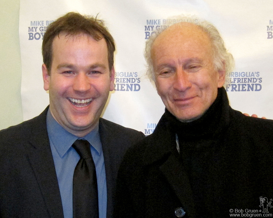 "March 31 - NYC - Ron Delsener came to see comedian Mike Birbiglia's debut performance of ""My Girlfriend's Boyfriend' at Greenwich House."
