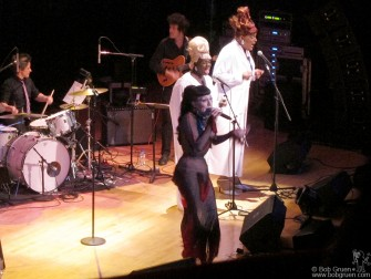 April 21 - The incredible Joey Arias played a solo show at Town Hall, with a band and backup singers.