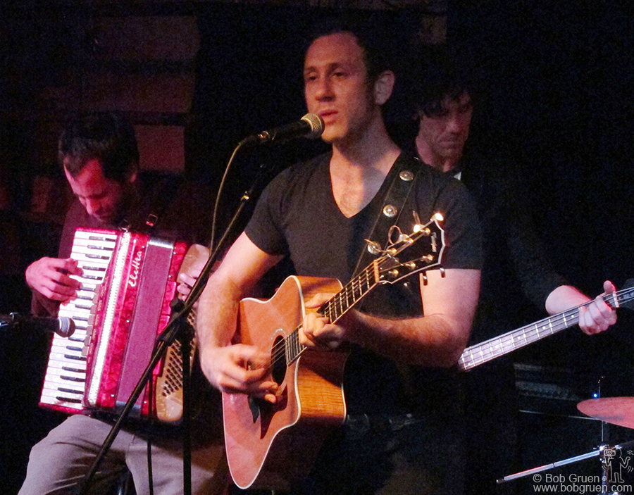 June 18 - NYC - My son Kris Gruen showed off his songs with a band at Bowery Electric.