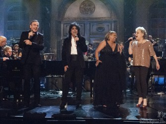 The Rock & Roll Hall of Fame this year inducted Neil Diamond, Alice Cooper and Darlene Love, above with Elton John and Bette Midler at the annual dinner at the Waldorf Astoria hotel.