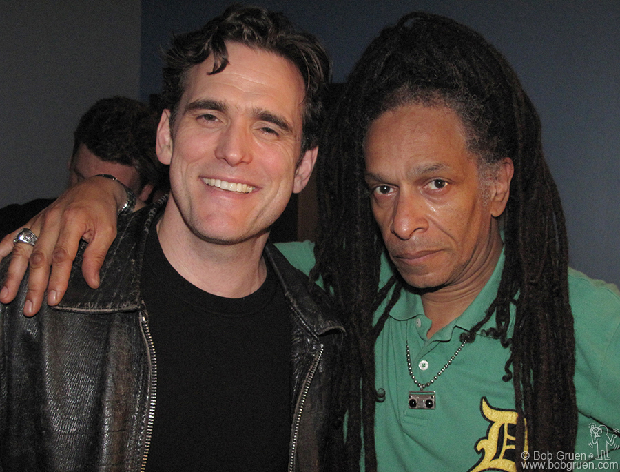 Matt Dillon came backstage to say hi to Don Letts and the band.