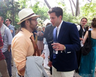 September 3 - Mark Ronson chats with his best man, Sean Lennon at Mark's wedding reception.