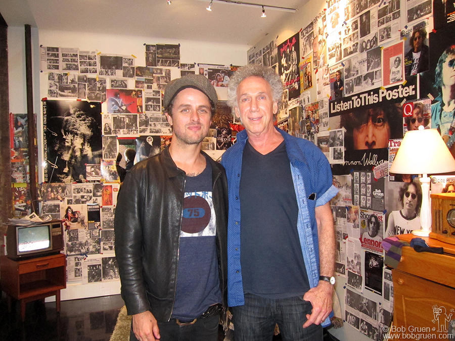 Sept 27 - NYC - Later in the month the Marc Jabobs store invited me to install a version of my 'Teenage Bedroom' in their Bleeker street store when I had a book signing at the Bookmarc store across the street. By chance Billie Joe Armstrong came by just as I was finishing the installation.