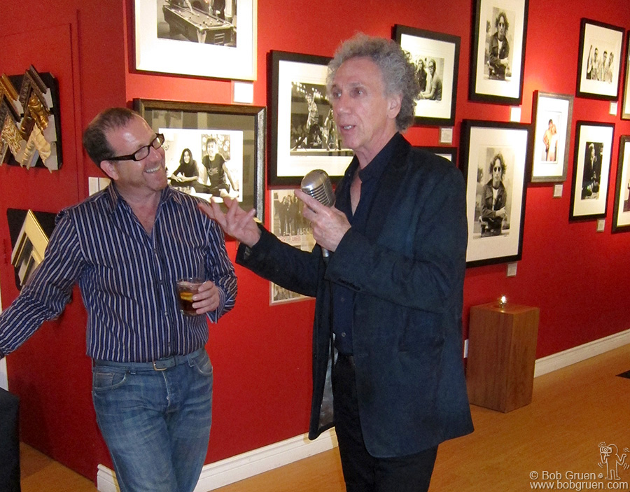 Oct 15 - Toronto - Brian Liss of the Liss Gallery listens as I tell some stories about my photos on display there.
