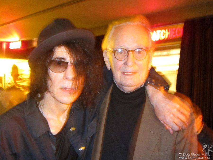 Oct 26 - NYC - Peter Wolf played a great rock and roll show at the Bowery Ballroom, and Earl McGrath (above) was among the friends who came out to see him perform. Peter talked about meeting Howlin' Wolf and other stories of the good old days.