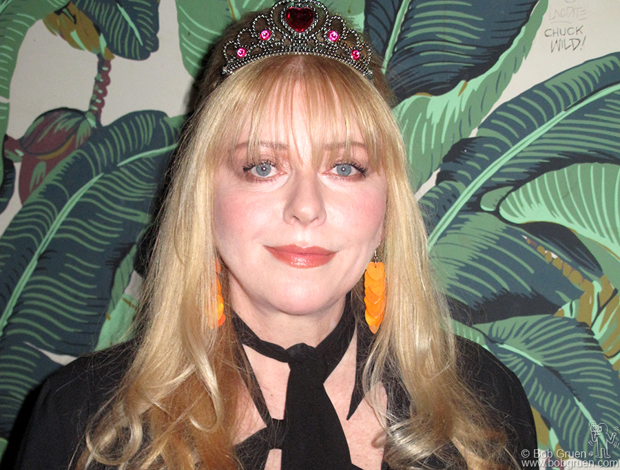 "Jan 13 - NYC - Bebe Buell played songs from her new album ""Air Kisses for The Masses"" at the Hiro Ballroom and she looked and sounded great!"