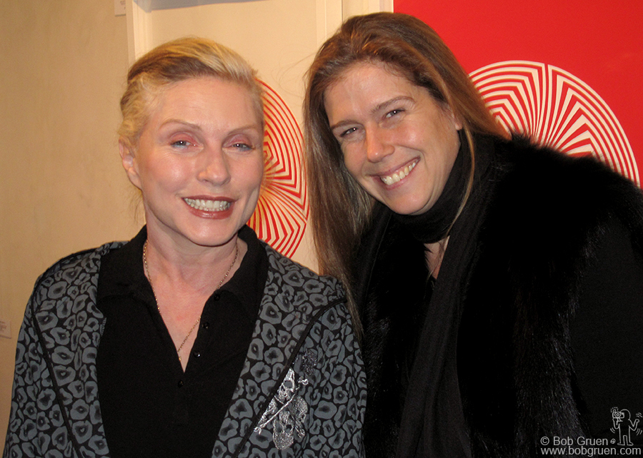 Jan 14 - NYC - My wife, Elizabeth Gregory-Gruen had another successful opening for her exhibition of artworks. Debbie Harry was among those who came to see Elizabeth's work and had a good time.