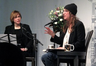 "Jan 19 - Patti Smith gave a reading of her new book ""Just Kids"" at the Barnes & Noble West 17th Street store. It's a great story of her coming to New York and living with photographer Robert Mapplethorpe when they were both 'just kids'."