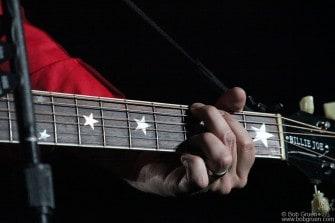 A close-up of Billie Joe's guitar.