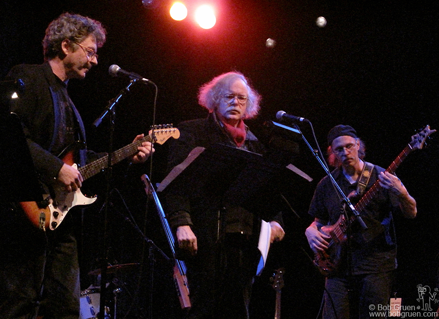 Jan 22 - Brooklyn - Ed Sanders and the Fugs played at St. Ann's Warehouse in a tribute/Benefit for original Fug founder Tuli Kupferberg.