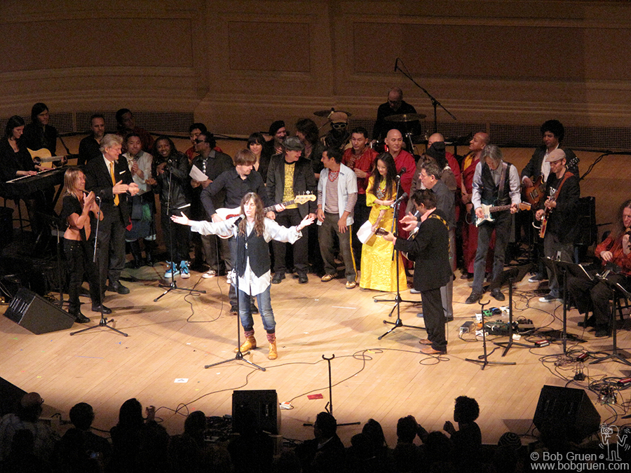 Feb 26 - NYC - Patti Smith led the finale at Carnegie Hall for the Tibet House benefit, featuring Iggy Pop.