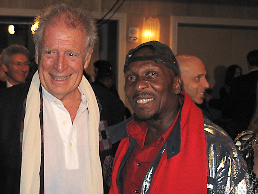 Island Records' chief Chris Blackwell and Jimmy Cliff, two of the main men who brought Reggae Music out of Jamaica to the world.