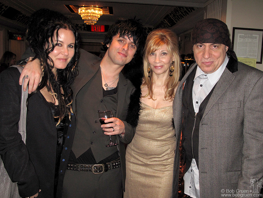 Adrienne and Billie Joe with Steven Van Zandt and his wife Maureen enjoy the afterparty.