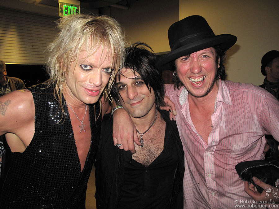 March 17 - Austin, TX - Michael Monroe, Steve Conte & Sami Yaffa backstage after their set at the Austin Music Hall.