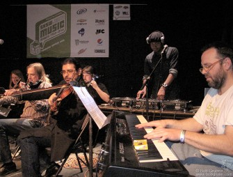 DJ Spooky had a band including strings and piano playing versions of music from classical to Led Zeppelin.