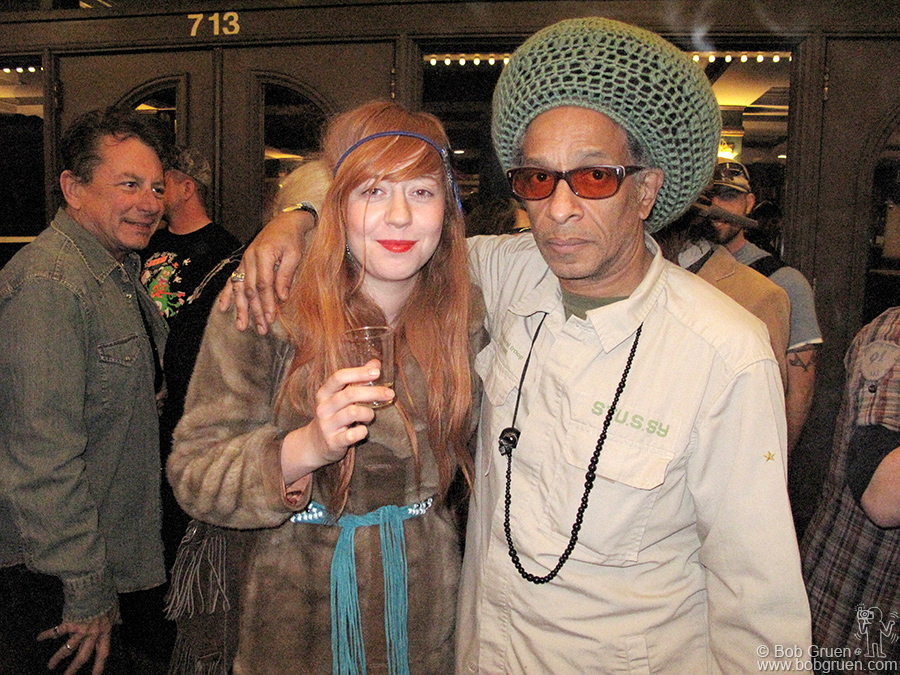 March 19 - Austin, TX - Don Letts was in Austin to premier his new film about the Strummerville charity and he was joined at the screening by Joe Strummer's daughter Lola.