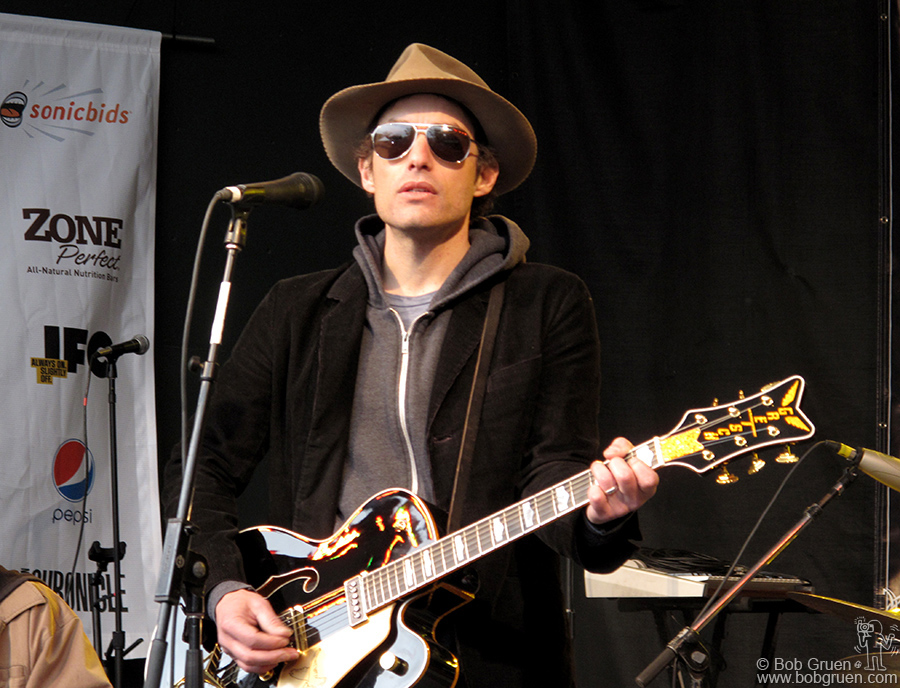 March 20 - Austin, TX - Jakob Dylan sang at the Rachael Ray picnic at Stubbs where the food was as good as the music.