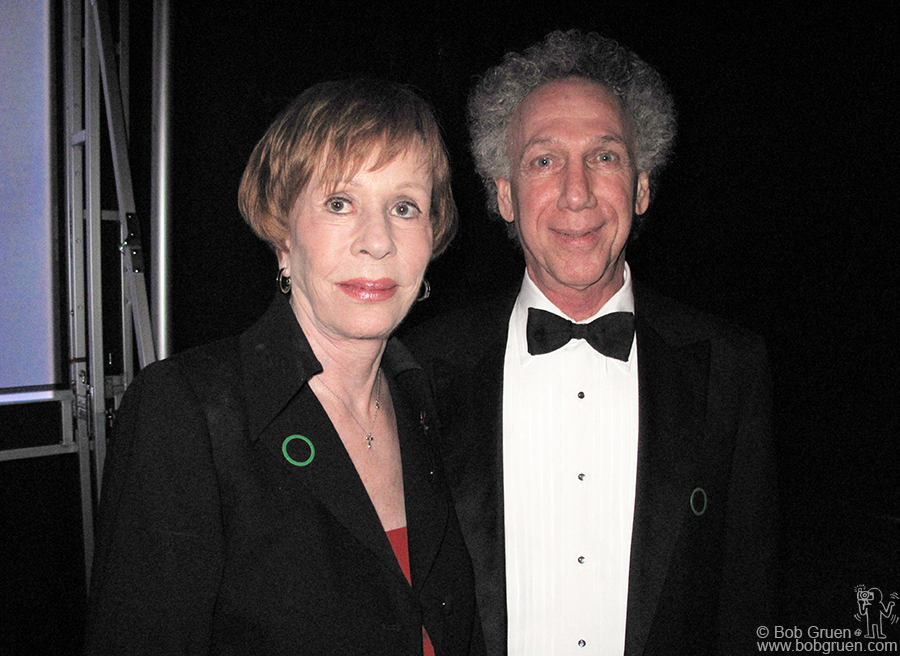 March 23 - Los Angeles - Then I went to Los Angeles for a benefit for the Anaheim University Film Institute. They are starting an education program named after my friend the late Carrie Hamilton and invited me to say a few words at the dinner, after which I got to say hello to Carrie's mom Carol Burnett.