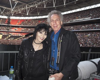 I had a great time traveling with Green Day for a few days and I got to hang out with my old friend Joan Jett, watching the show at Wembley with her from the side of the stage.