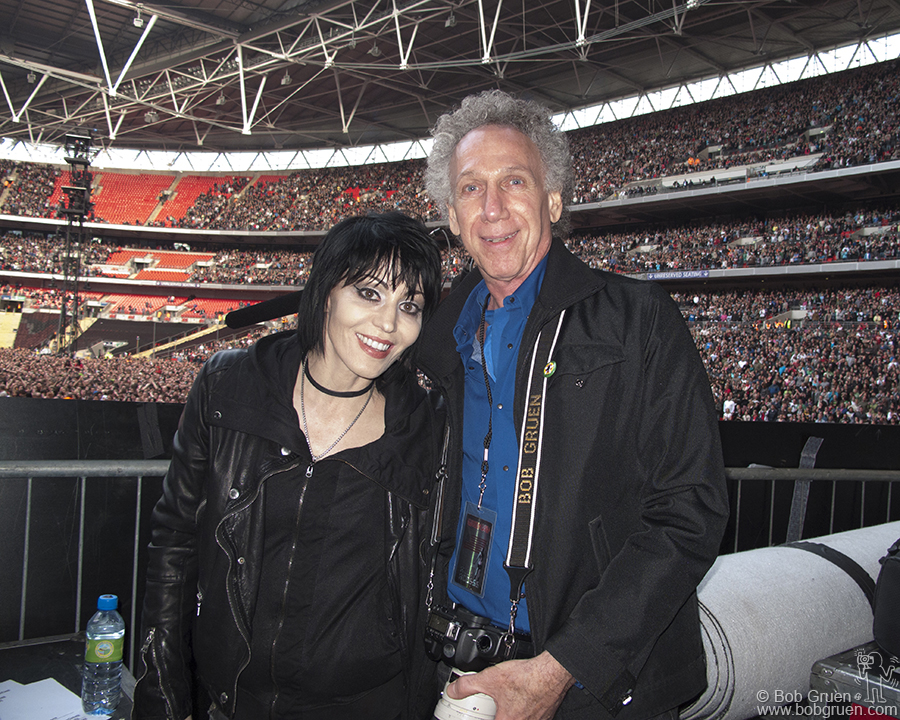 June 19 - London - I had a great time traveling with Green Day for a few days and I got to hang out with my old friend Joan Jett, watching the show at Wembley with her from the side of the stage.