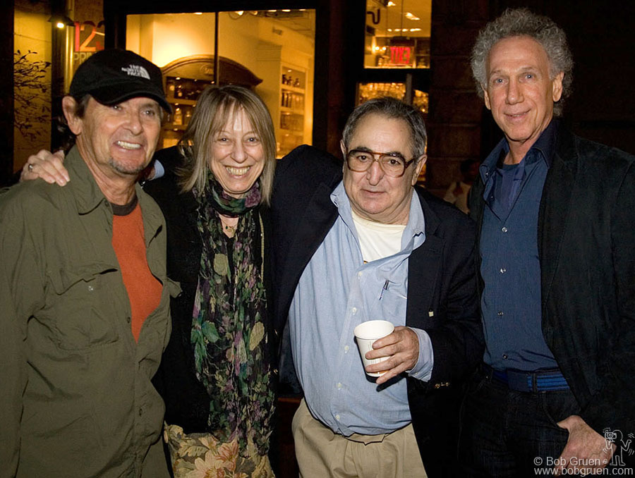 Oct 22 - NYC - I got to hang out with the legendary rock photographer Jim Marshall at his opening at the Morrison Hotel Gallery on Prince street and he introduced me to his friends Bobby Neuwirth and Suze Rotolo.